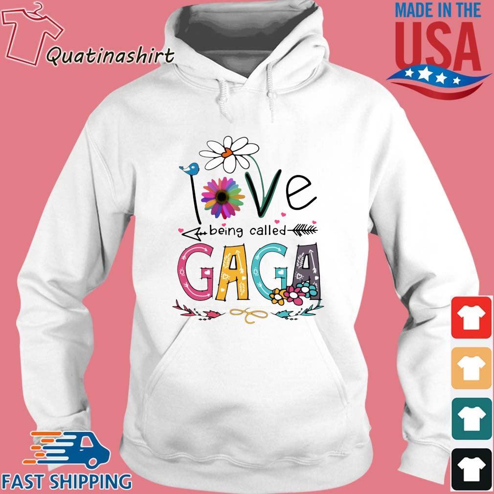 I Love Being Called Gaga Daisy Flower Shirt Hoodie trang