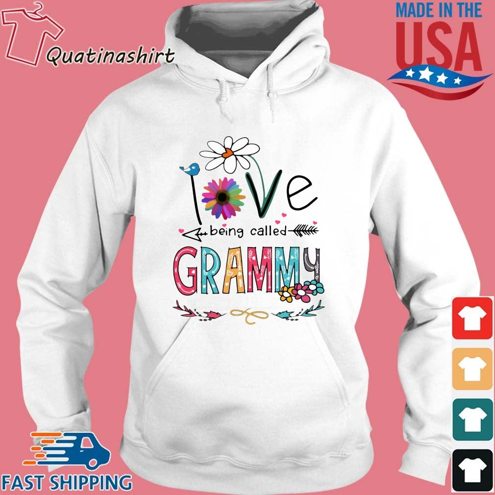 I Love Being Called Grammy Daisy Flower Shirt Hoodie trang