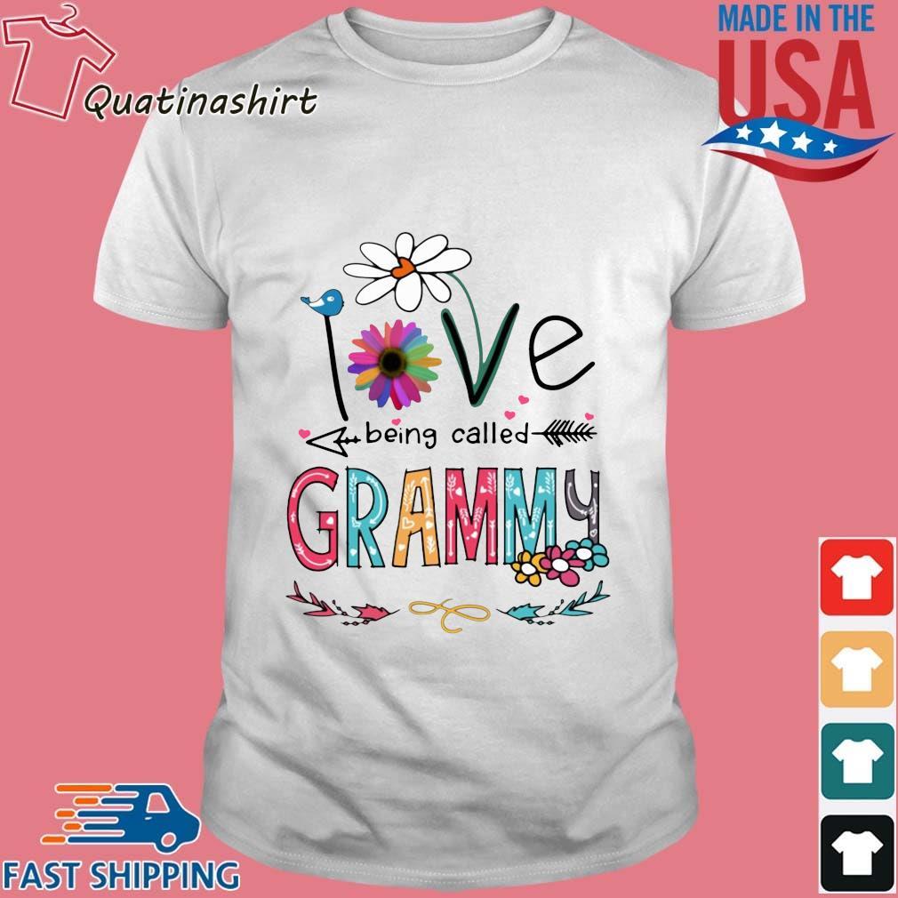I Love Being Called Grammy Daisy Flower Shirt