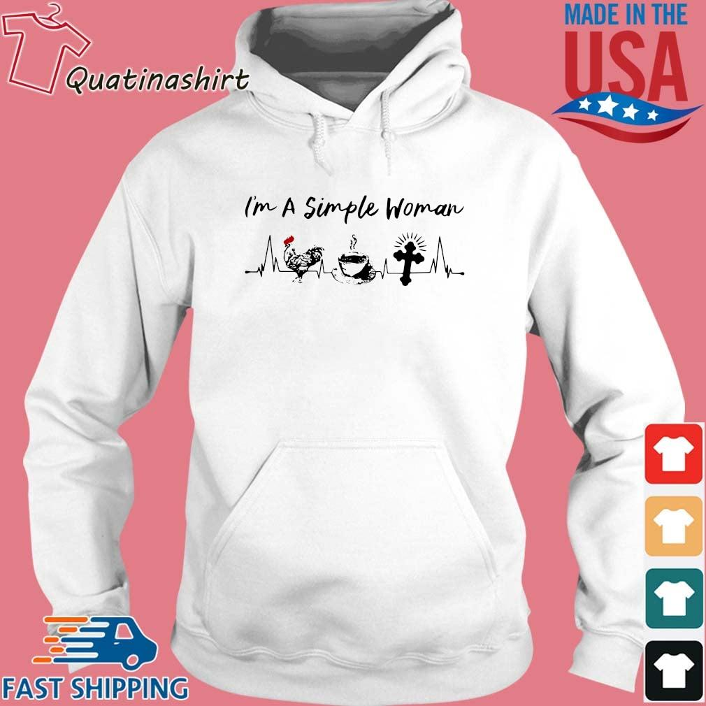 I''m a simple woman chicken coffee cross s Hoodie trang
