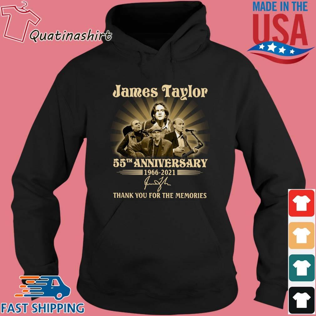 James Taylor 55th anniversary 1966-2021 thank you for the memories signature s Hoodie den