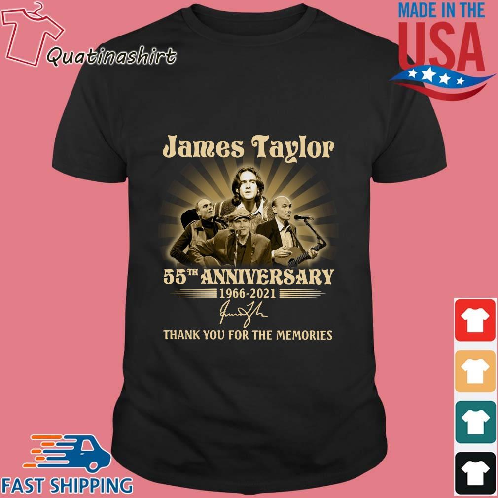 James Taylor 55th anniversary 1966-2021 thank you for the memories signature shirt