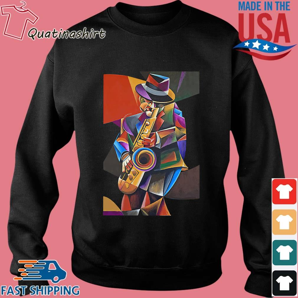 Jazz Sax Painting By Bob Gregory Shirt Sweater den