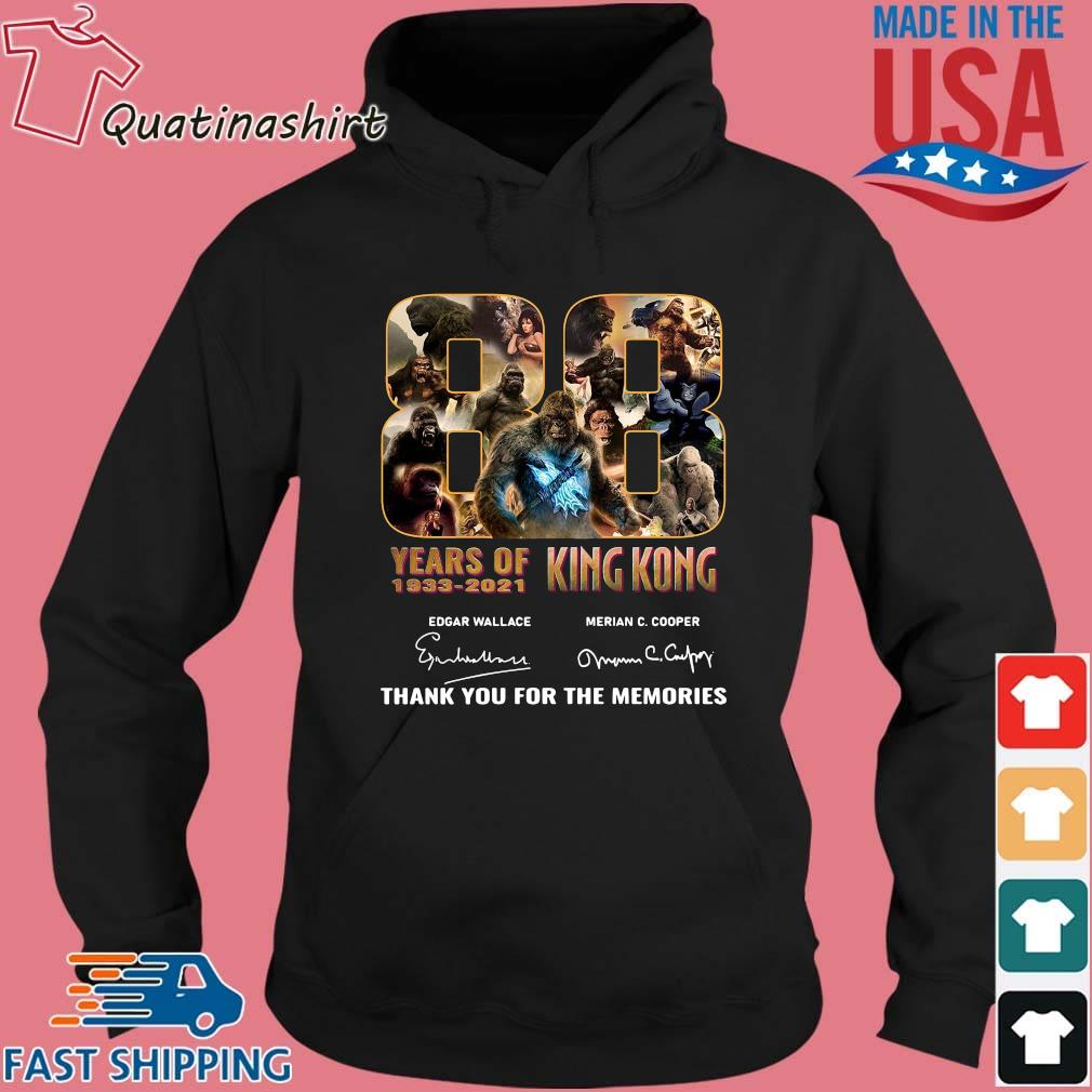 King Kong 88 years of 1933-2021 thank you for the memories signatures s Hoodie den