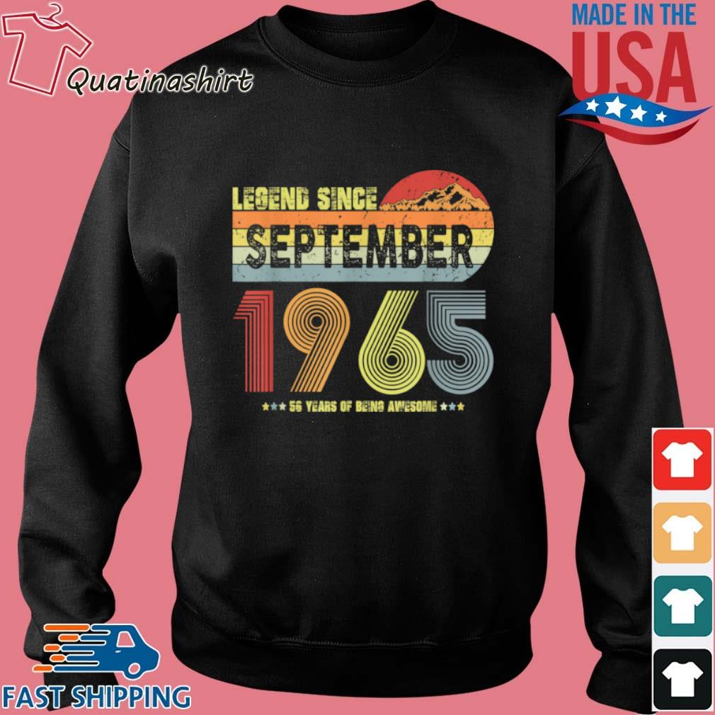 Legend Since September 1965 56 Years Of being Awesome Vintage Shirt Sweater den