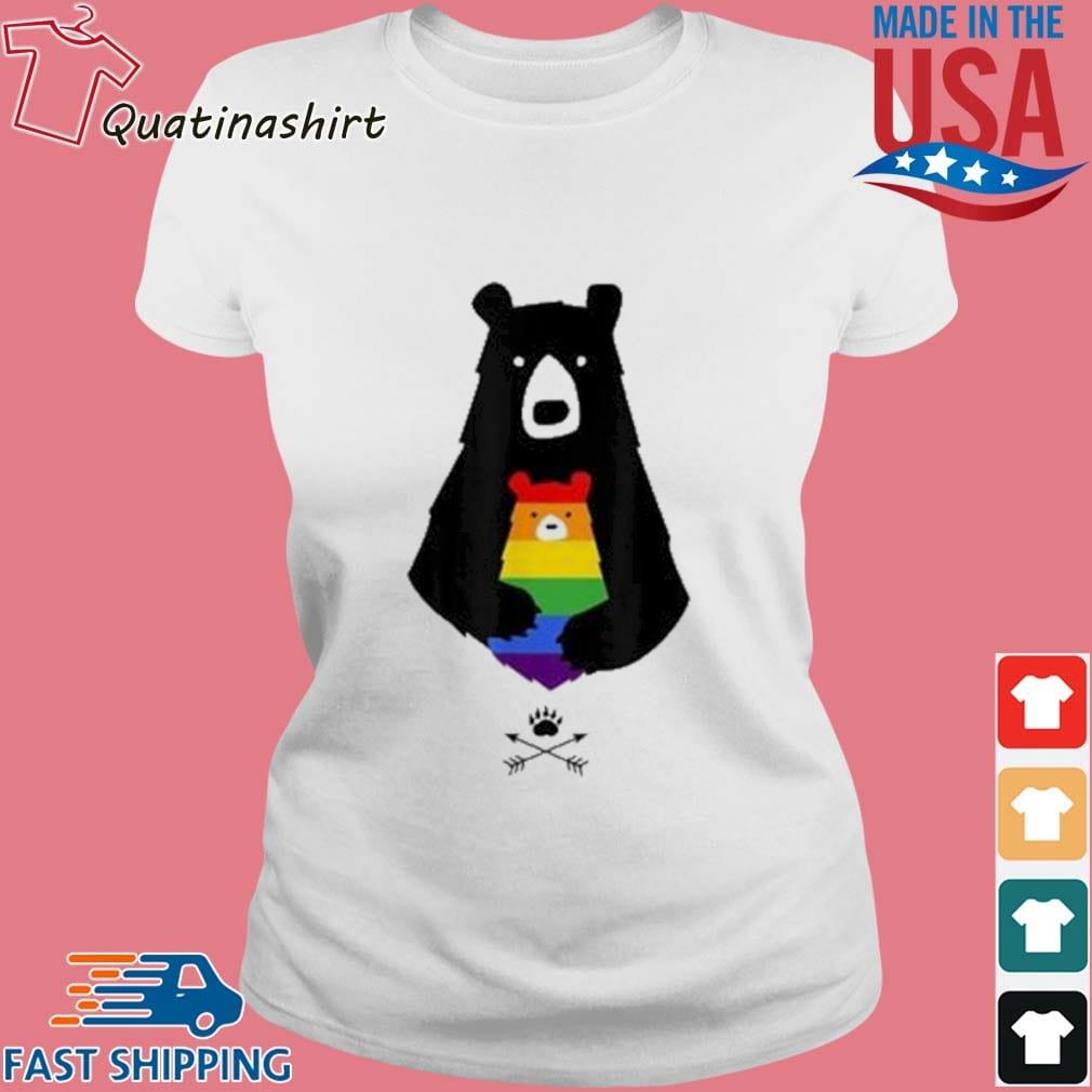 LGBT Mom Mama Bear Shirt Ladies trang