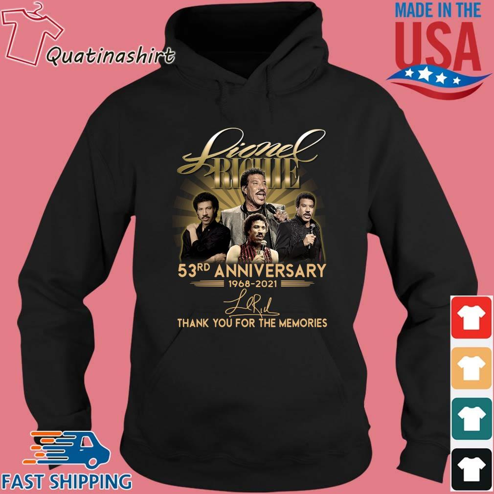 Lionel Richie 53rd anniversary 1968-2021 thank you for the memories signature s Hoodie den