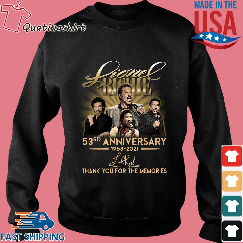 Lionel Richie 53rd anniversary 1968-2021 thank you for the memories signature s Sweater den