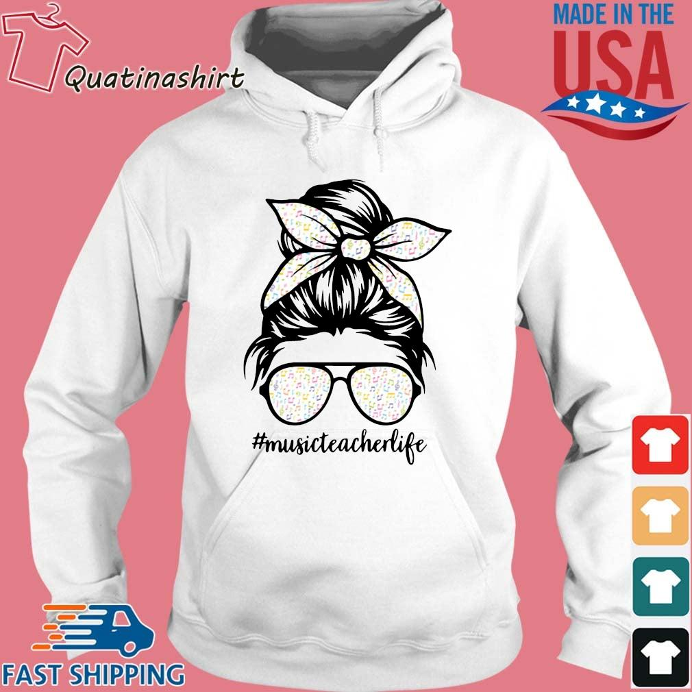 Musical Note Girl Music Teacher Life Shirt Hoodie trang