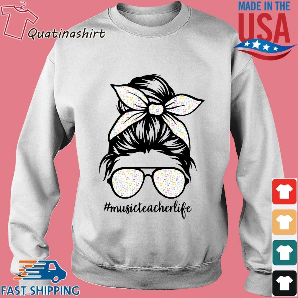 Musical Note Girl Music Teacher Life Shirt Sweater trang
