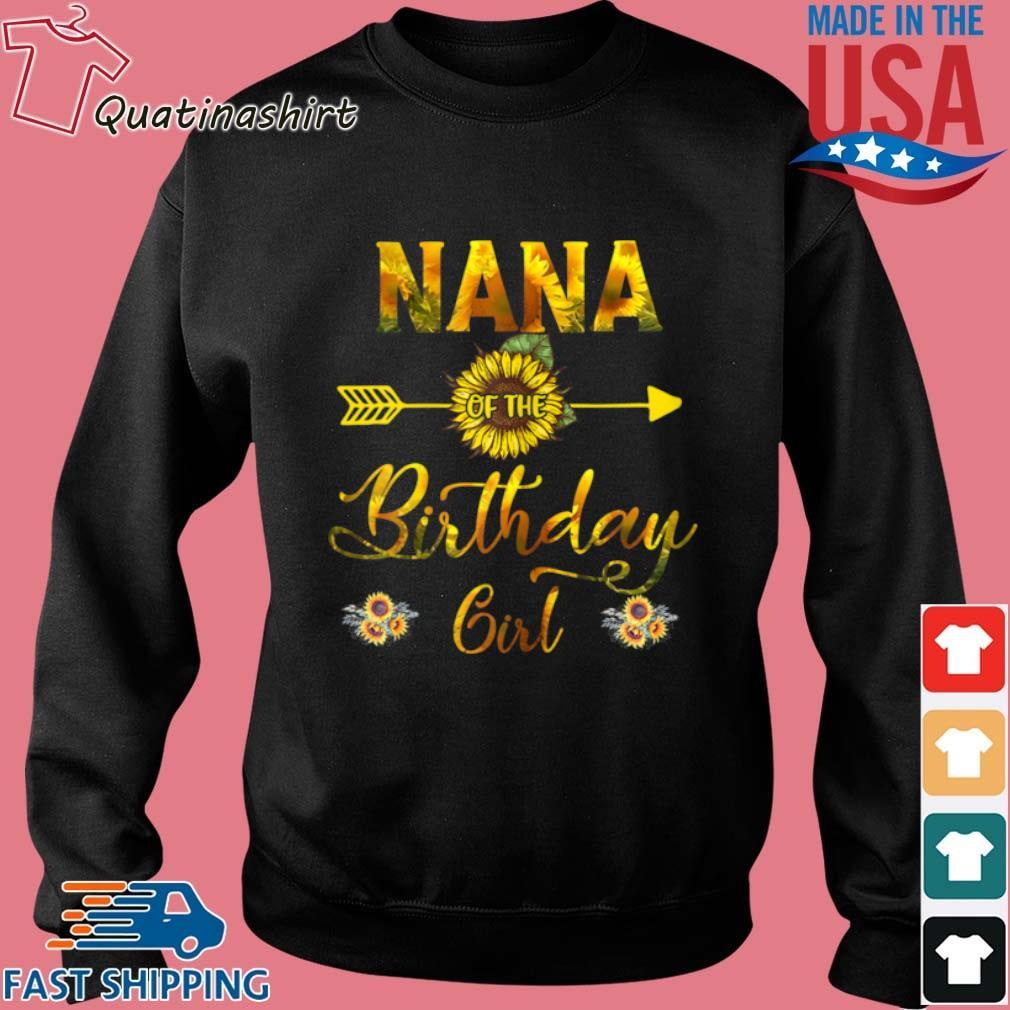 Nana Of The Birthday Girl Sunflower Shirt Sweater den