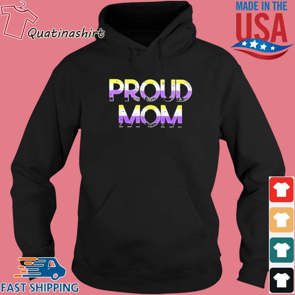 Proud Mom Nonbinary Pride Flag Shirt Hoodie den
