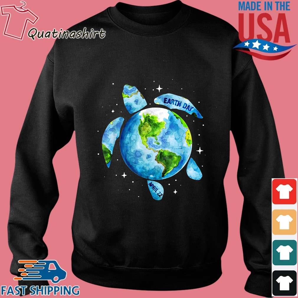 Sea turtle planet love world environment earth day s Sweater den