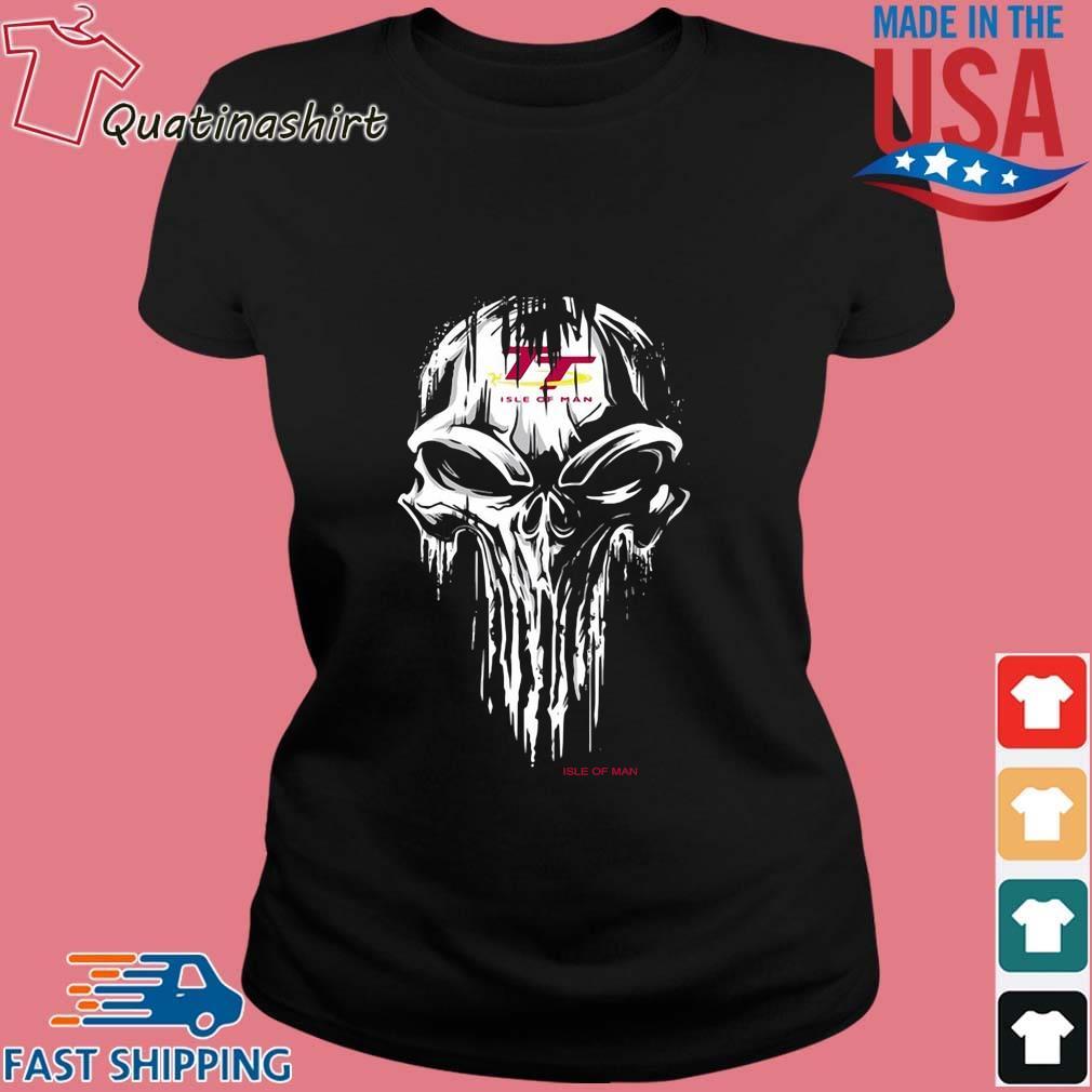 Skull Isle Of Man Logo Shirt Ladies den