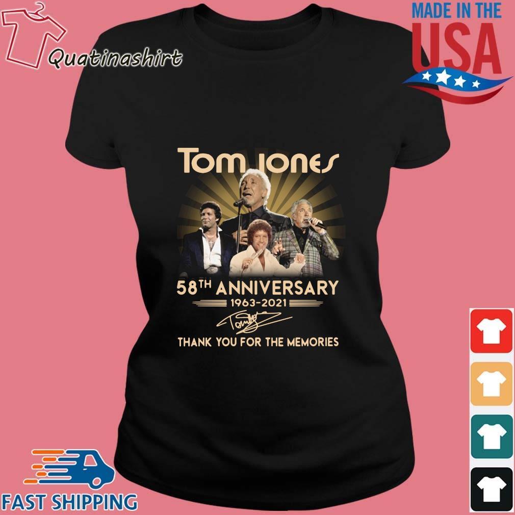 Tom Jones 58th anniversary 1963-2021 thank you for the memories signature s Ladies den