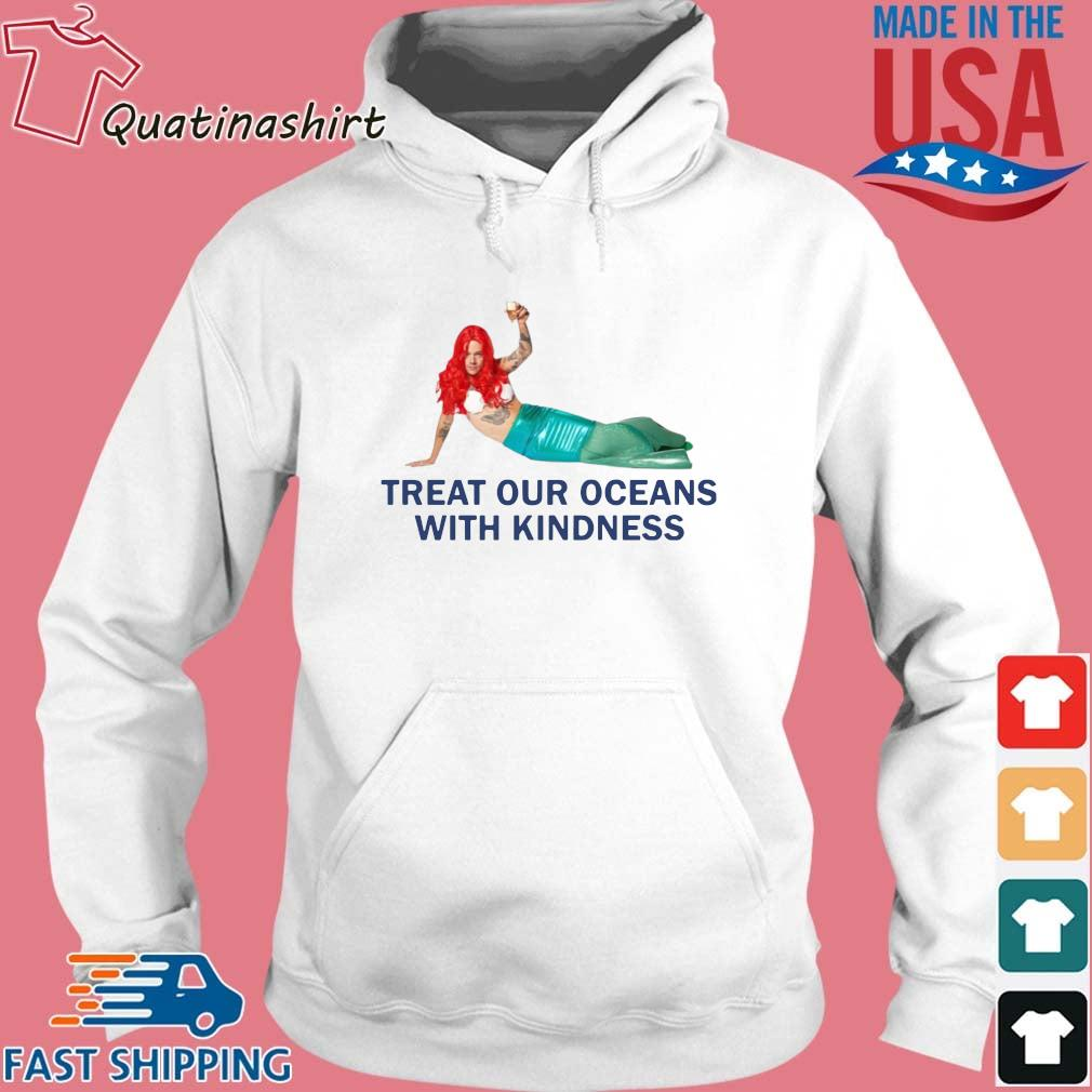 Treat our oceans with kindness s Hoodie trang