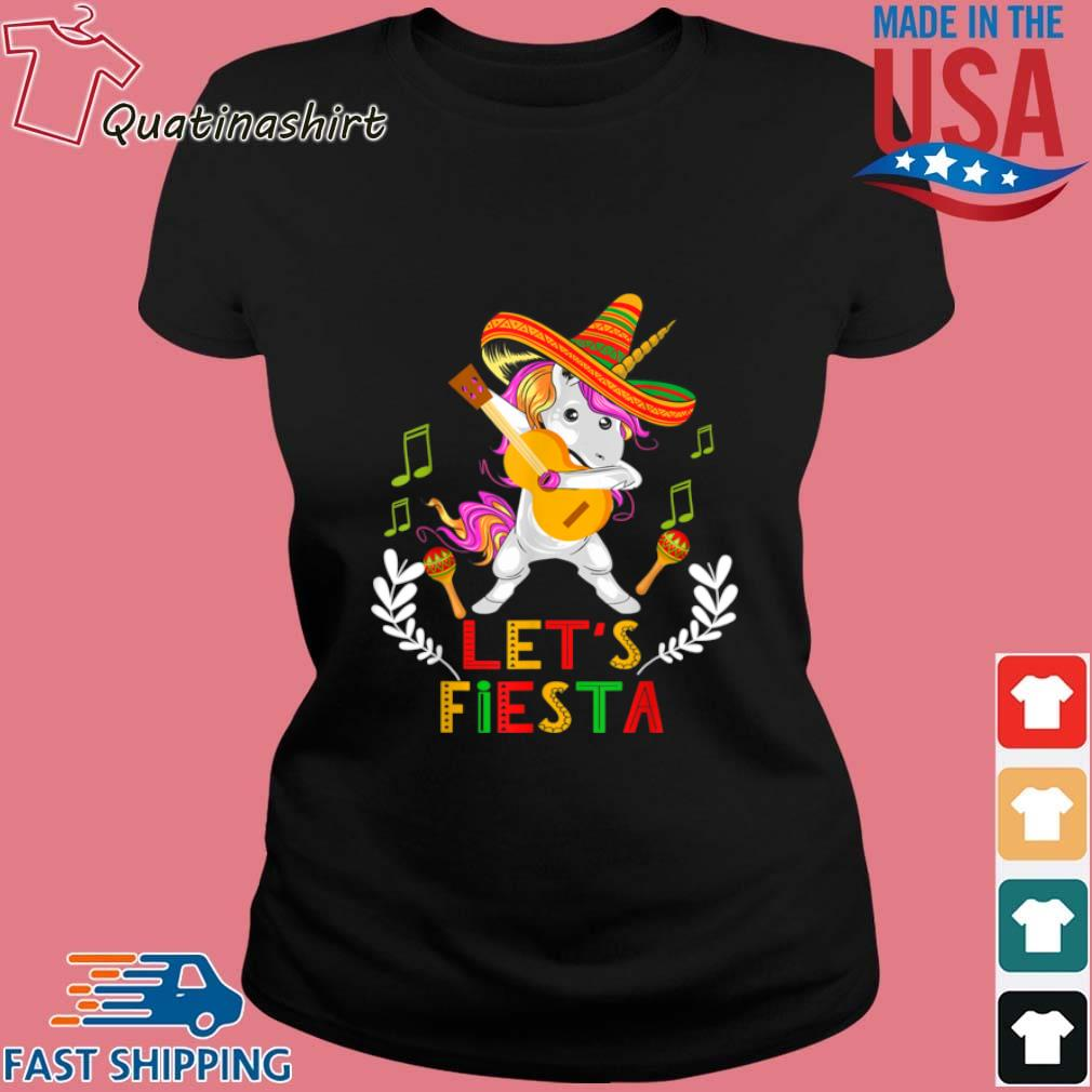 Unicorn Dabbing Let's Fiesta Shirt Ladies den