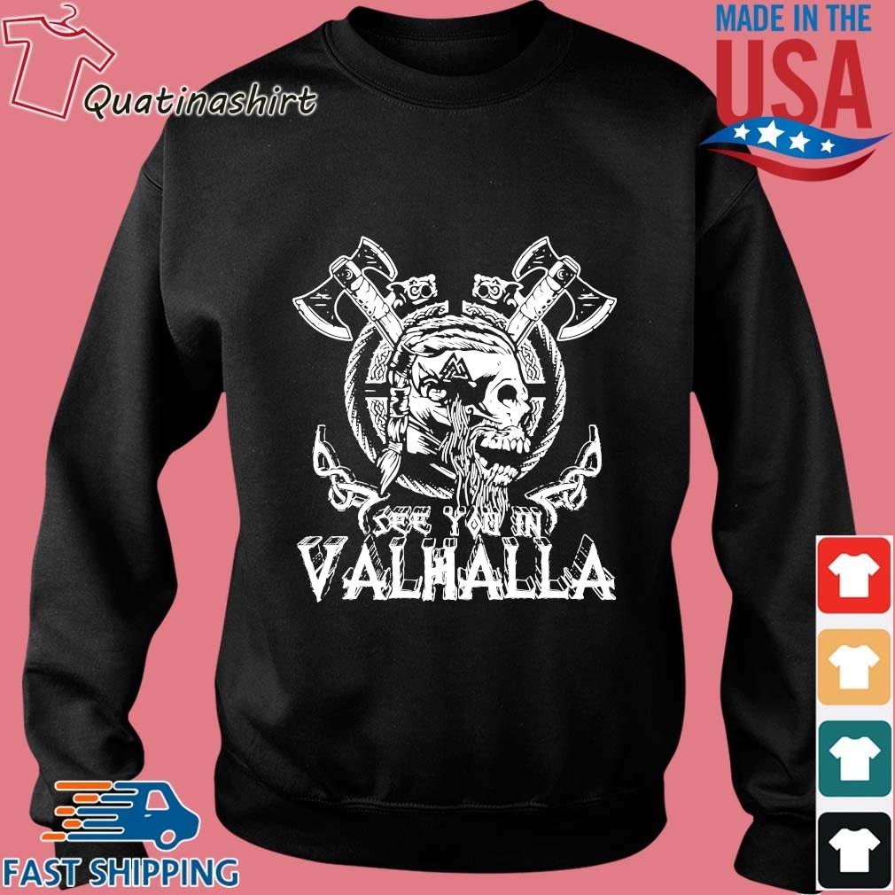 Viking Skull see you in Valhalla s Sweater den