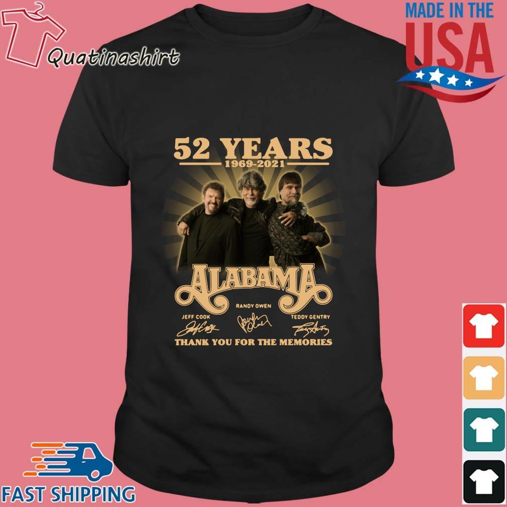 52 years 1969-2021 Alabama thank you for the memories signatures shirt