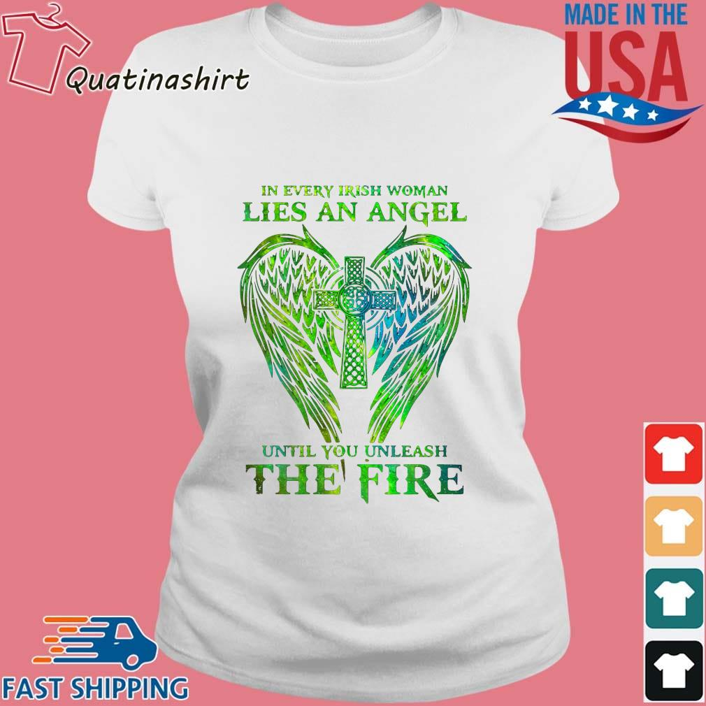 Wings in every irish woman lies an angel until you unleash the fire s Ladies trang