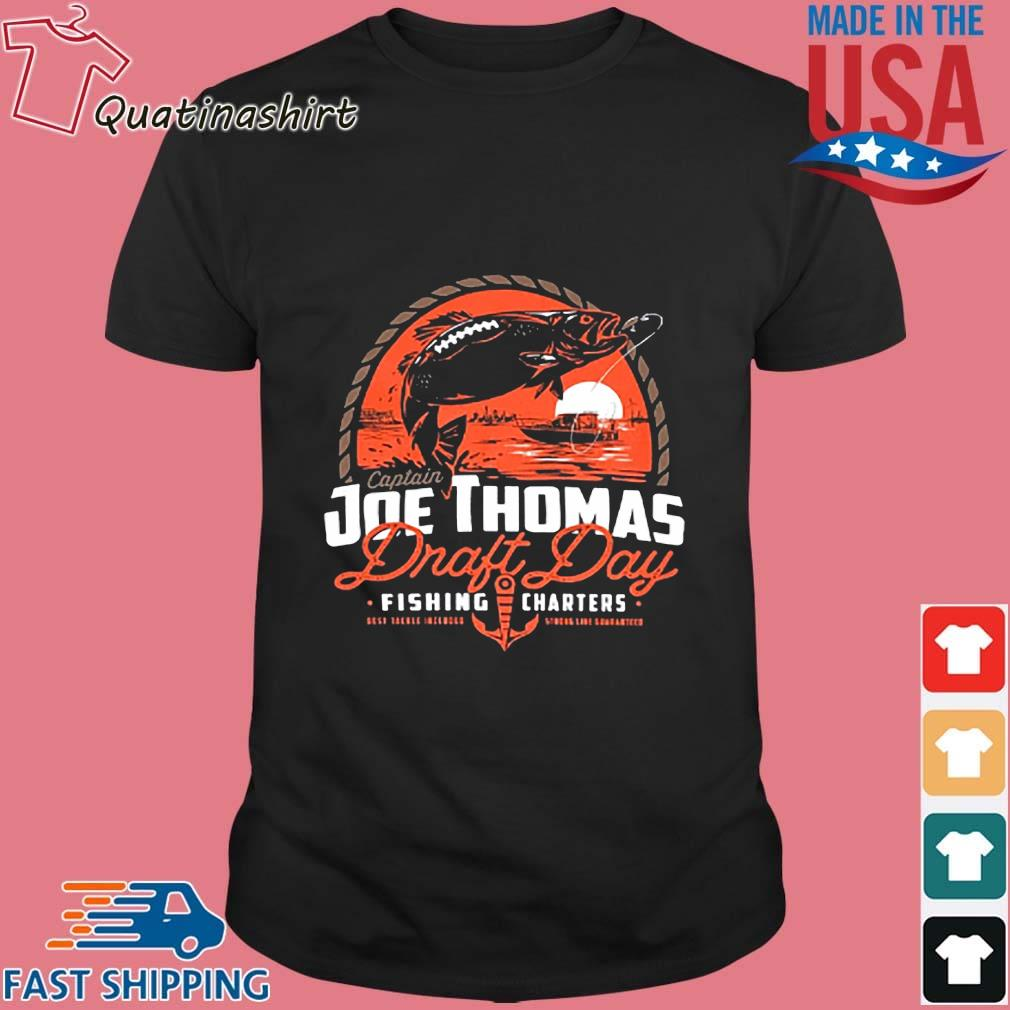 Captain Joe Thomas draft day fishing charters shirt